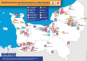 Etablissements agroalimentaires en Normandie de moins de 50 salariés