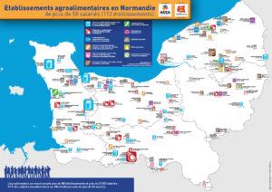 Etablissements agroalimentaires en Normandie de plus de 50 salariés