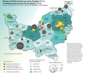 Les entreprises de la filière numérique en Normandie