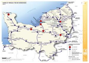 Les gares et le réseau TER en Normandie - 2015