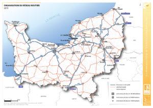 L'organisation du réseau routier - 2015