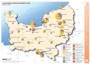 Formations du domaine sanitaire et social - Effectifs en 2015