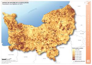 Niveau de diplôme de la population - Population sans diplôme en 2012