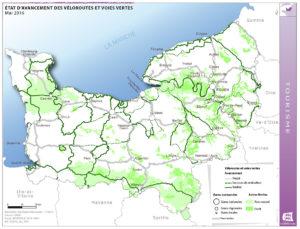 Etat d'avancement des véloroutes et voies vertes - Mai 2016