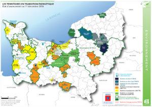 Les territoires en transition énergétique - Etat d'avancement au 1er décembre 2016