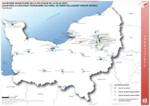 Quartiers Prioritaires de la Politique de la Ville (QPV) - Quartiers du Nouveau Programme National de Renouvellement Urbain (NPNRU)