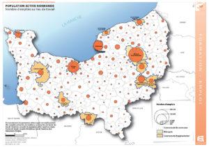 Population active normande - Nombre d'emplois au lieu de travail