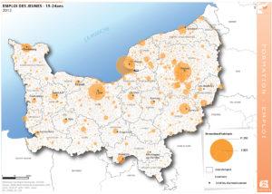 Emploi des jeunes - 15-24 ans - 2012