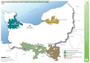 Parcs Naturels Régionaux (PNR) et Réserves Naturelles Régionales (RNR) - 2016